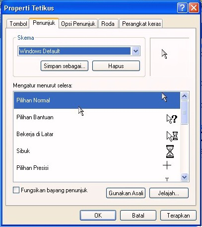 cara ganti kursor windows